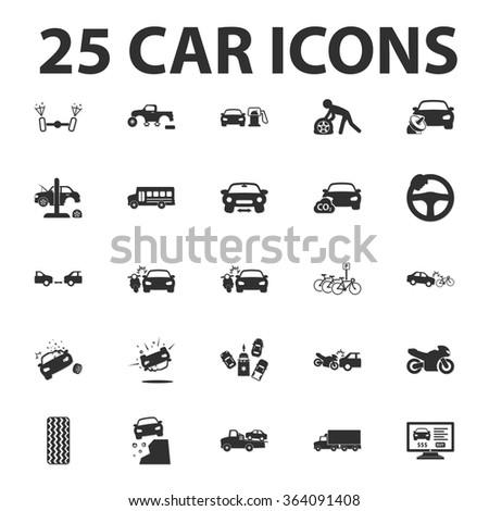 car  repair 25 black simple