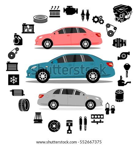 Car repair Engine vector