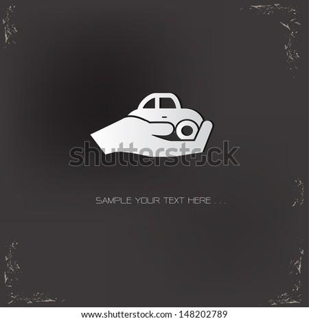 Car safety symbol,vector
