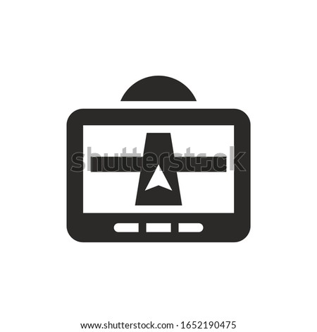 Car SAT NAV, GPS navigation icon. Vector icon isolated on white background. Imagine de stoc ©