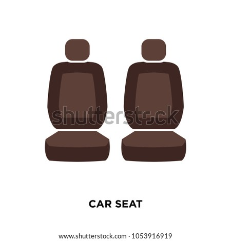 car seat icon isolated on white background for your web, mobile and app design, car seat icon concept