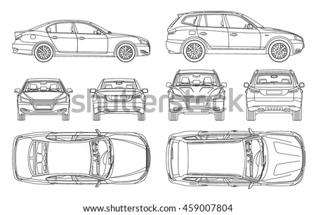 Outlined Cars - Download Free Vector Art, Stock Graphics & Images