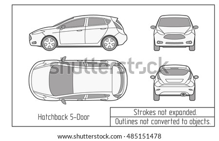 car sedan and suv drawing