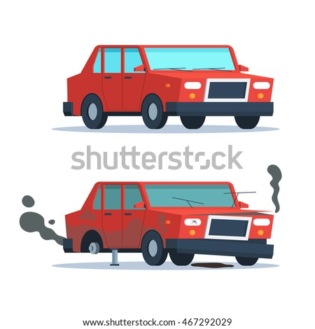 car sedan vehicle before and