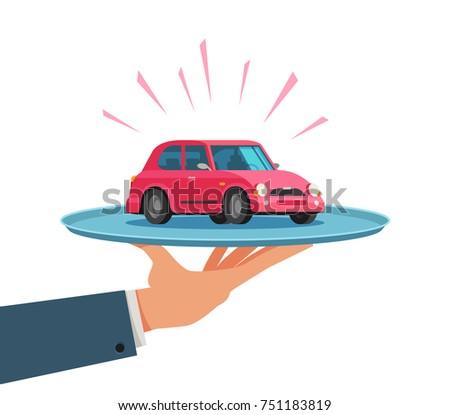 Car service, dealership, dealer concept. Vector illustration