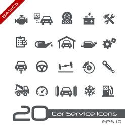 Car Service Icons // Basics