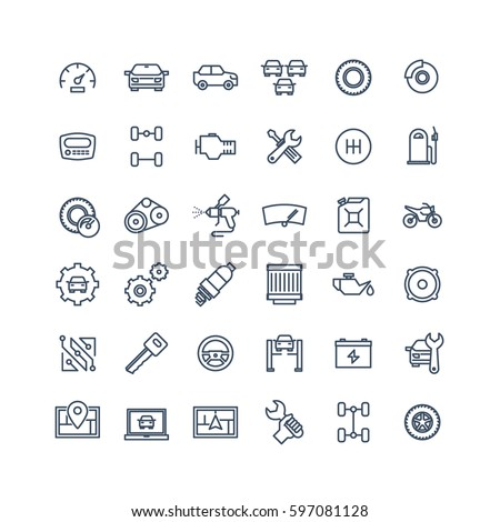 Shutterstock Car service icons set