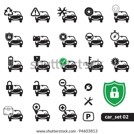 Car Service Icons, Set 02