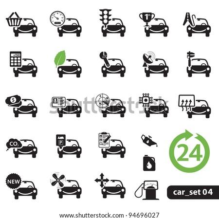 Car service icons, Set 04