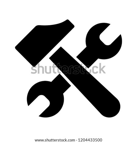 car service illustration - repair car symbol, car tools sign. service tools symbol