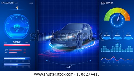 Car service in the style of HUD, Cars infographic ui, analysis and diagnostics in the hud style, futuristic user interface, repairs cars, Car auto service, mechanisms cars, car service UX. dashboard