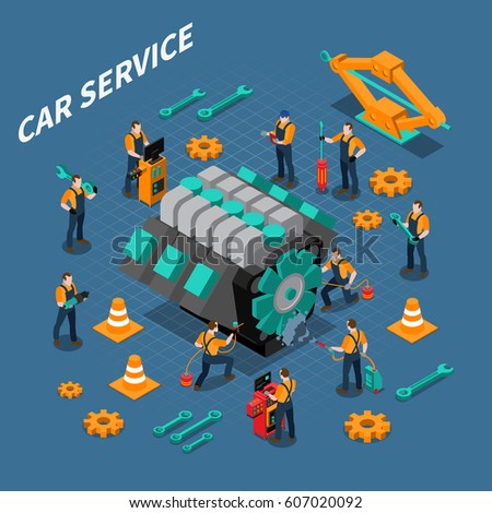 car service isometric