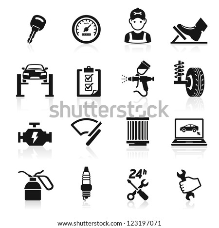 Car service maintenance icon set2. Vector illustration. More icons in my portfolio.
