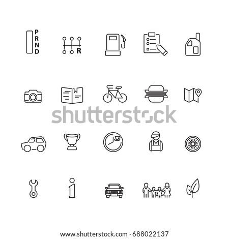 Car service maintenance set icons,Vector