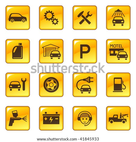Auto Repair  Service on Car Service   Repair Icons Stock Vector 41845933   Shutterstock