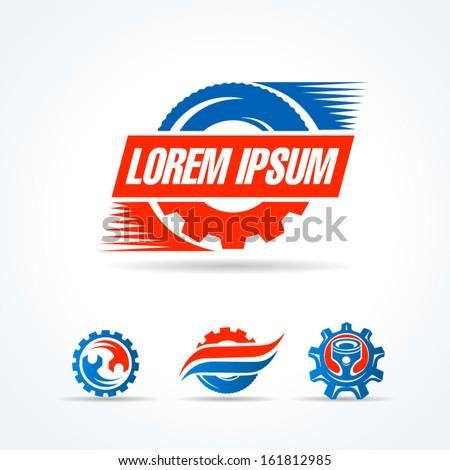 car service symbol emblem sign