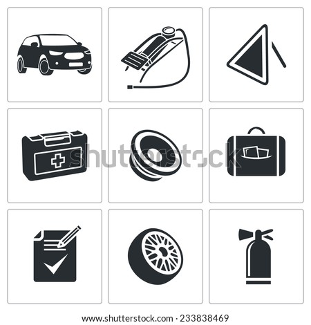 car service vector isolated