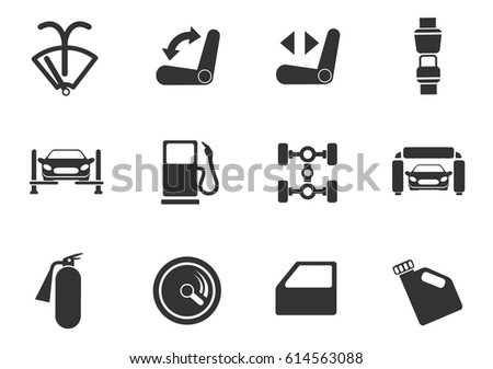 car service web icons for user interface design