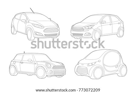 Car set, Transport illustration,Car illustration, Sport car, Automobile, Vector Illustration, Transportation icons, Technology icon and concept