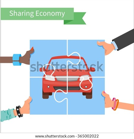 car share concept sharing