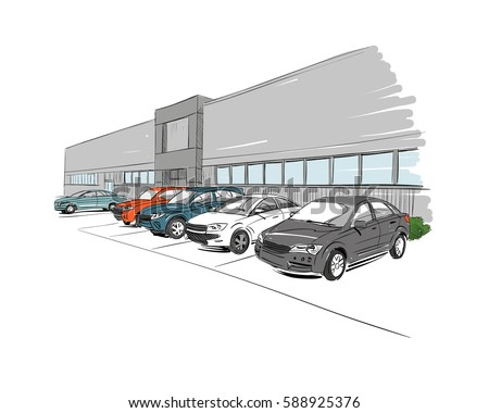 car showroom exterior design