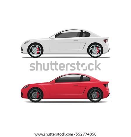 car side view  auto vector set
