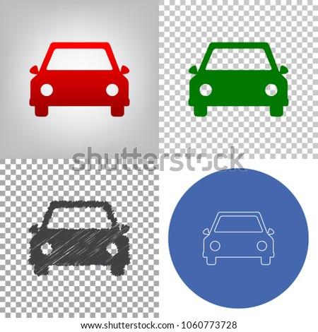 car sign illustration vector