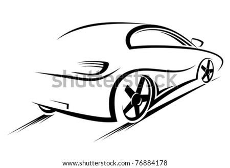 Car silhouette for race sports design. Jpeg version also available in gallery