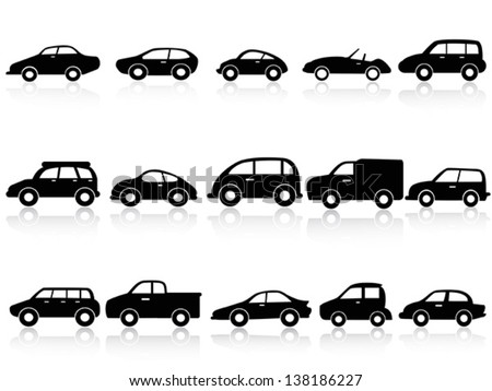 car silhouette icons