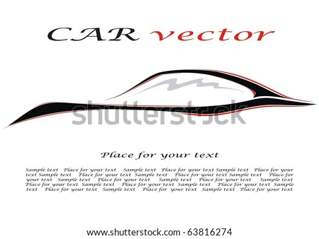 Car. Silhouette of the car. Vector illustration for your design.