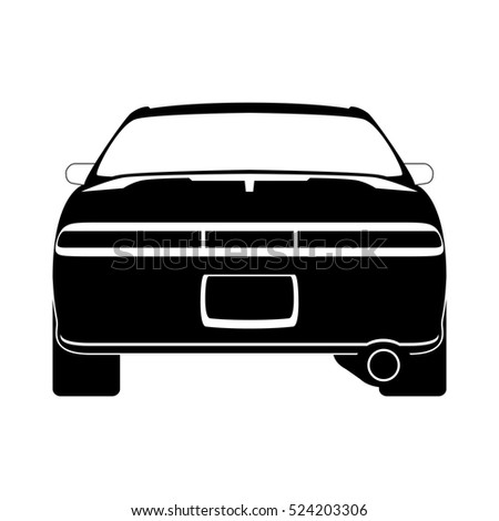 car silhouette  vector  back