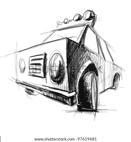 Car sketch vector illustration