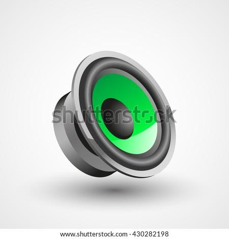 car speaker illustration