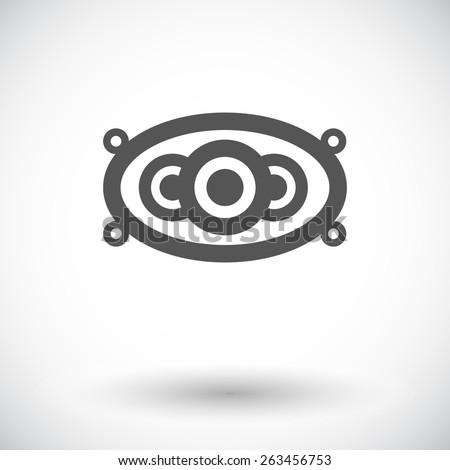 car speakers single flat icon