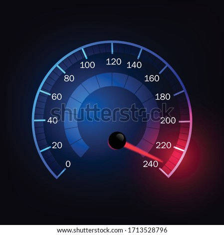 car speed meter abstract
