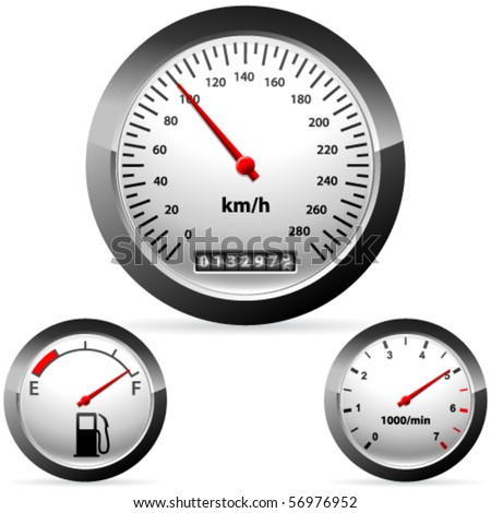 Car speedometer and dashboard