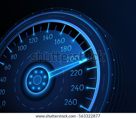 Car speedometer. Vector techo background.