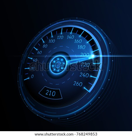car speedometer vector techo