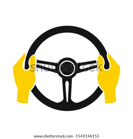 Car steering wheel icon symbol template black color editable. simple logo vector illustration for graphic and web design. #1543146155