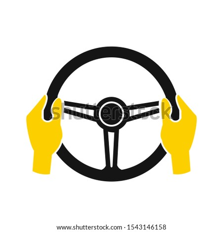 Car steering wheel icon symbol template black color editable. simple logo vector illustration for graphic and web design. #1543146158