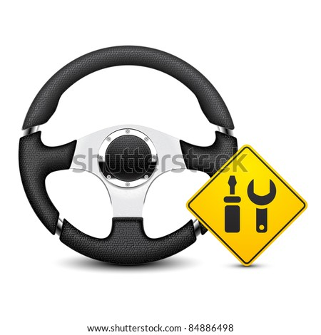 car steering wheel service icon