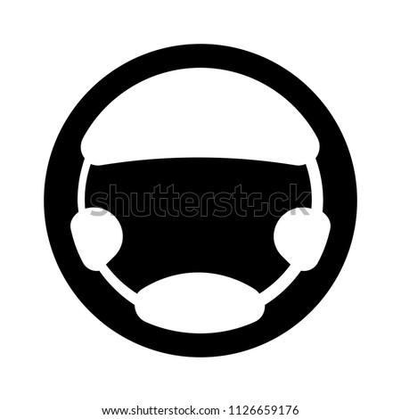 car steering wheel symbol. vector Car driver Icon