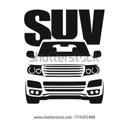 Car sticker with a picture of the suv