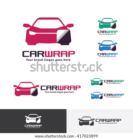 car sticker wrap logo template