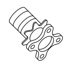 Car suspension hub icon, Vector illustration eps.10