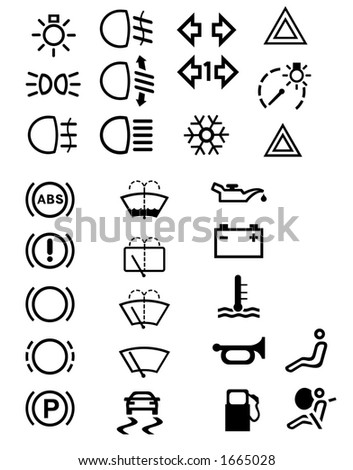 Car Symbols Stock Vector 1665028 : Shutterstock