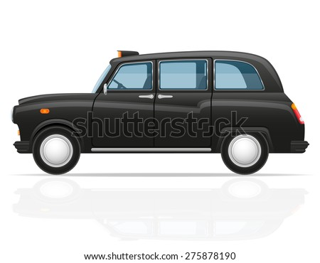 car taxi vector illustration isolated on white background
