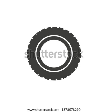 car tire vector icon
