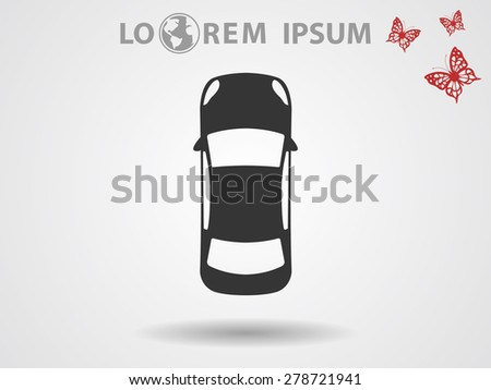 car top vector icon 10 eps