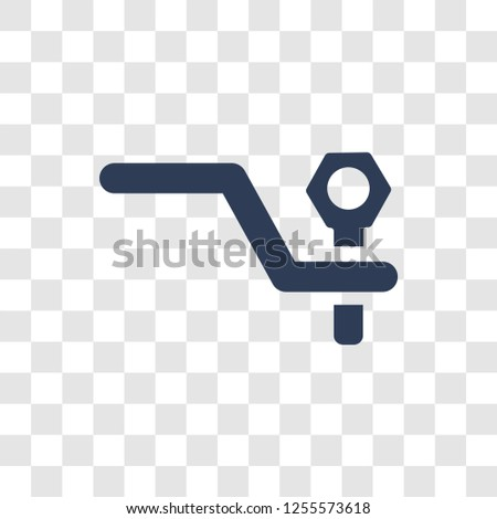 car towbar icon. Trendy car towbar logo concept on transparent background from car parts collection